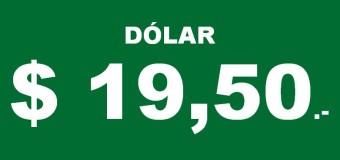 ECONOMÍA – Régimen | Las cuevas de la City venden el dólar a $ 19,50.-