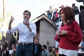 Letcher en acto de campaña con Cristina Fernández.