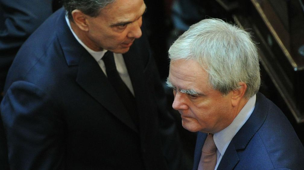 Miguel Ángel Pichetto y Federico Pinedo, los operadores del régimen en el Senado.