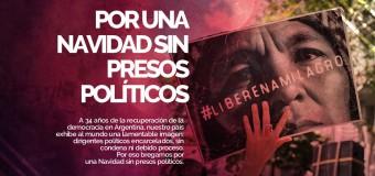 PRESOS POLÍTICOS – Régimen | Manifestación en Ezeiza por una Navidad sin presos políticos.