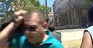 REPRESIÓN – Régimen | Cuando la cantidad de ciudadanos era incontenible, empezaron los incidentes.