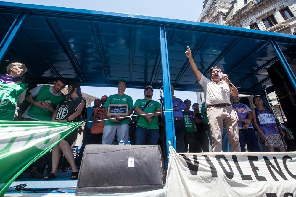 El paro y la movilización de los estatales de ATE fue contundente en todo el país. FOTO: Prensa ATE Nacional