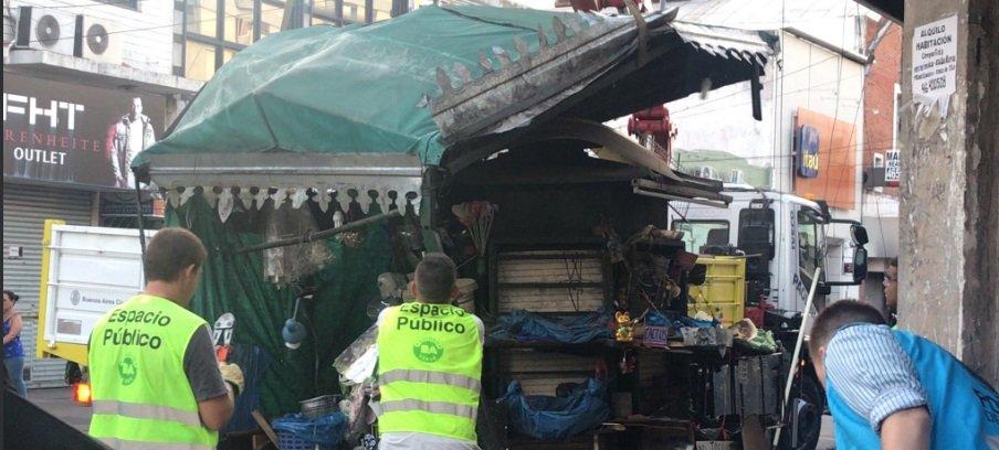 Escenas violentas de la policía macrista contra los trabajadores ambulantes.
