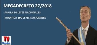 TV MUNDUS – Noticias 245 | Megadecreto de Macri y despidos.
