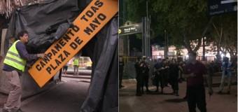 MALVINAS – Régimen | Macri desalojó a los ex-combatientes de la Plaza de Mayo.