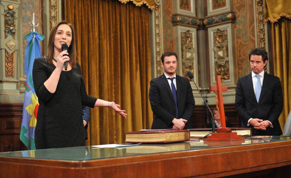 Vidal, Gobernadora del Opus Dei y el Ministro Scarsi de la UCES. El concepto de que al pobre no hay que darle mucho.