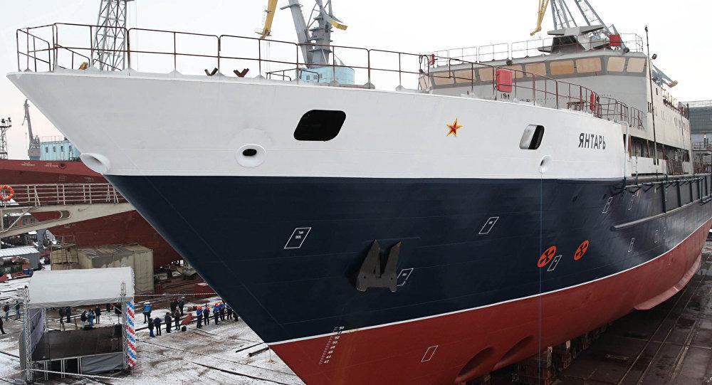 Buque Yantar de la Armada Rusa. Es la única nave extranjera que sigue buscando al ARA San Juan.