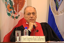Está prohibido opinar. El régimen acusa al más prestigioso jurista argentino, Raúl Zaffaroni. FOTO: CIDH