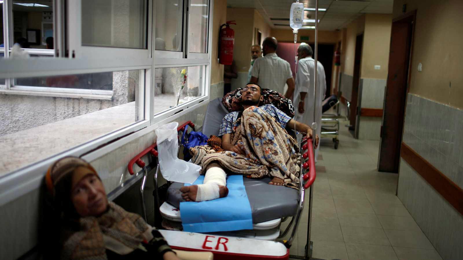 Los hospitales palestinos no dan abasto con la cantidad heridos por el ataque del ejército judío.