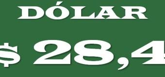 DEVALUACIÓN – Régimen | El dólar se disparó a $ 28,4 y batió su récord histórico.