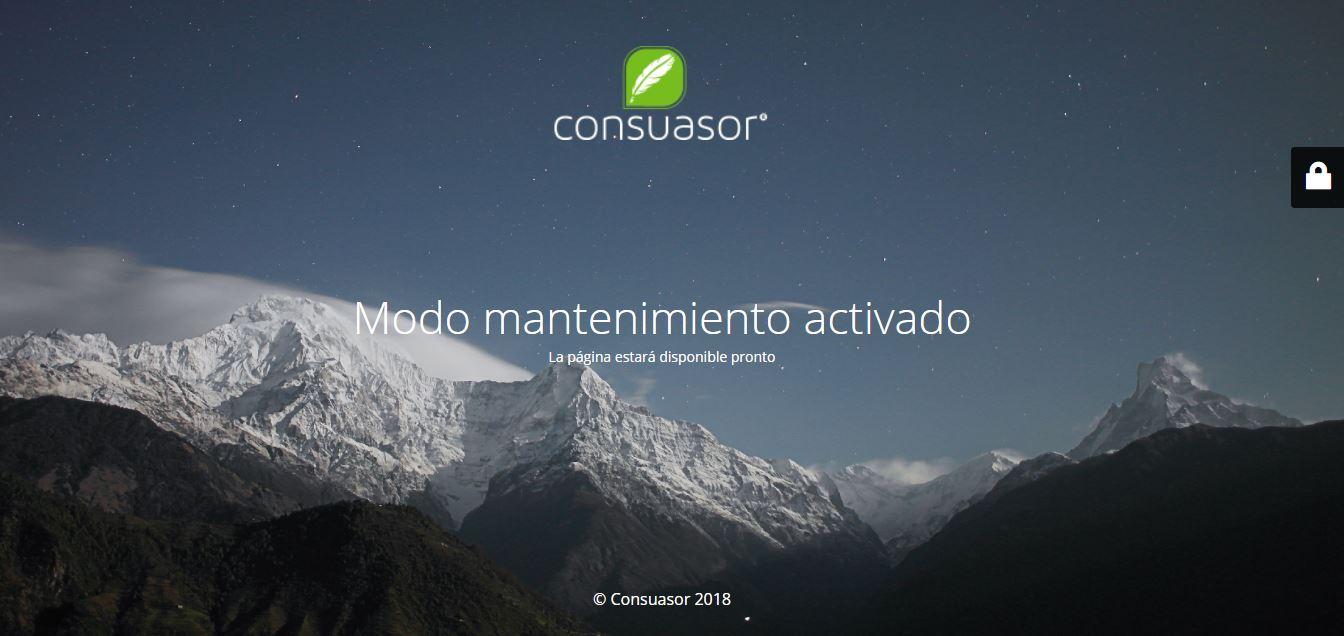 Este es el sitio web actual de Consuasor tras la maniobra de Laura Alonso.