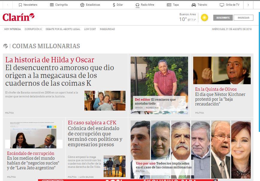 El Grupo Clarín es el principal artífice de la dictadura incipiente.