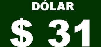 ECONOMÍA – Régimen | $ 31.- El dólar se disparó nuevamente y ya llegó al 200 % desde que está Macri.