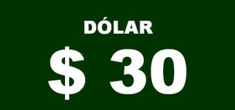 ECONOMÍA – Régimen | El dólar ya superó los $ 30 y está imparable.