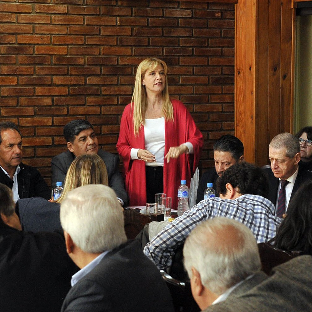 Verónica Magario, Presidenta de la Federación Argentina de Municipios.
