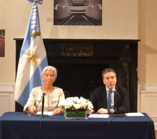 Christine Lagarde (FMI) y Nicolás Dujovne anunciaron en Nueva York el plan económico para el país.