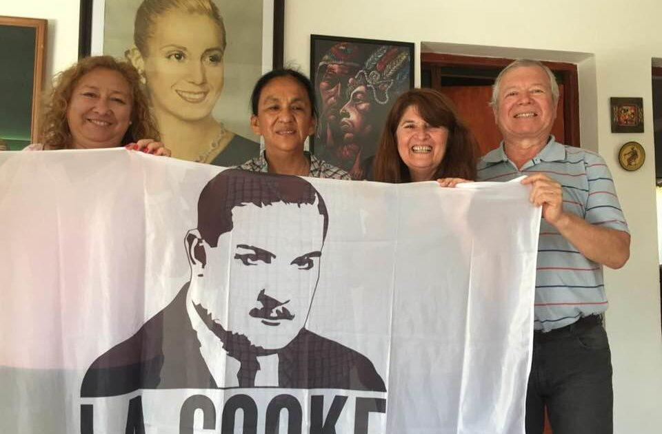 Milagro Sala, primera presa política del régimen con una bandera de La Cooke.