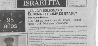 REGIÓN – Brasil | Publicación judía argentina apoya al nazi Bolsonaro.