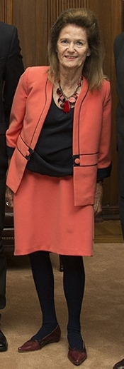 Elena Higton de Nolasco recibió una impropia visita del Ministro Garavano.