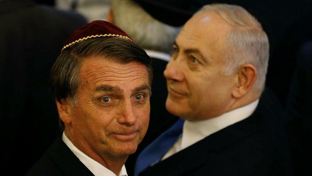 El nazi Jair Bolsonaro y el genocida Benjamin Netanyahu.