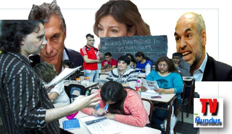 Macri, Rodríguez Larreta y Acuña no pudieron cerrar los colegios de adultos gracias a la lucha de los sindicatos y de las comunidades educativas de los mismos.