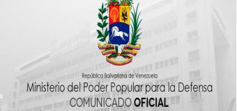 REGIÓN – Venezuela | Las Fuerzas Armadas de Venezuela emitieron un comunicado explicando el accionar de los terroristas apresados.
