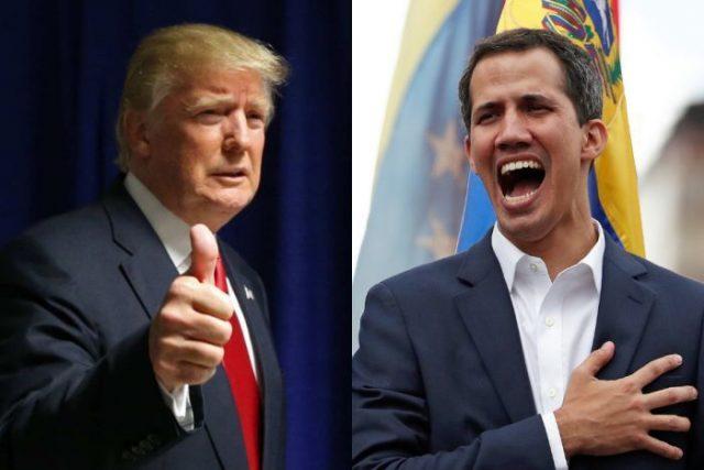 Trump sostiene al terrorista Juan Guaido