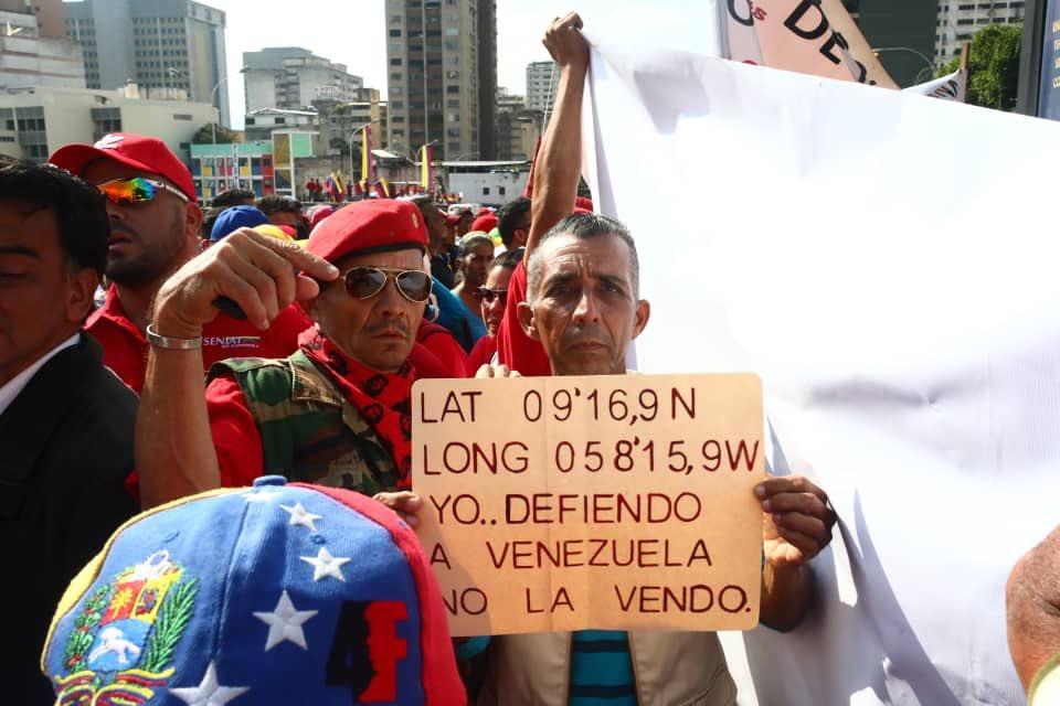 El pueblo de Venezuela reaccionó contra las agresiones exteriores.