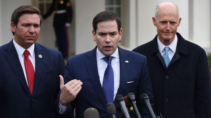 Rubio, DeSantis y Scott, cerebros del golpe e invasión yanqui a Estados Unidos.