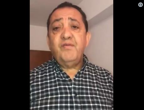 Luis D Elía en un video de Twitter antes de ser detenido por el TOF nº 6.