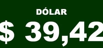 ECONOMÍA – Régimen | El dólar superó los $ 39,10.