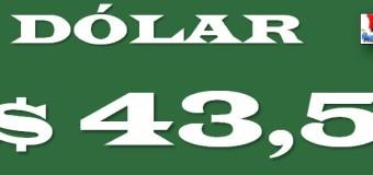 ECONOMÍA – Régimen | El dólar entró en corrida cambiaria y cerró a $ 43,50.