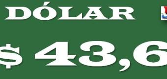ECONOMÍA – Régimen | La desconfianza hacia Macri disparó el dólar a $ 43,6.-
