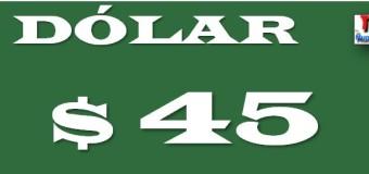 ECONOMÍA – Régimen | La desconfianza hacia el Gobierno de Macri llevó el dólar a $ 45. Y no para.