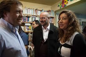 Weretilnek (Gobernador saliente) y Arabella Carreras (flamante ganadora de Río Negro).