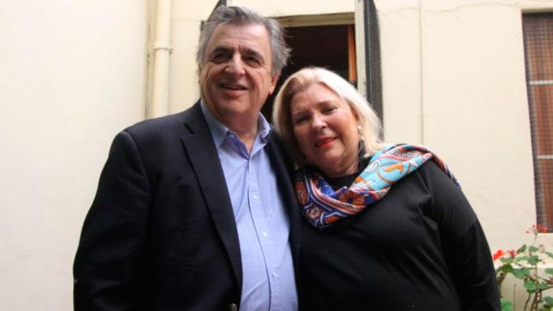 Mario Negri y Elisa Carrió, jerarcas del régimen macrista.