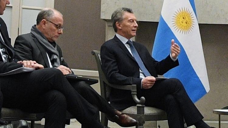 Jorge Faurie y Mauricio Macri.