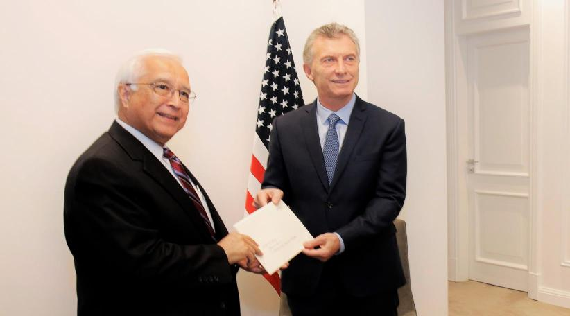 Mauricio Macri y Pra, Embajador de Estados Unidos. Foto de archivo.