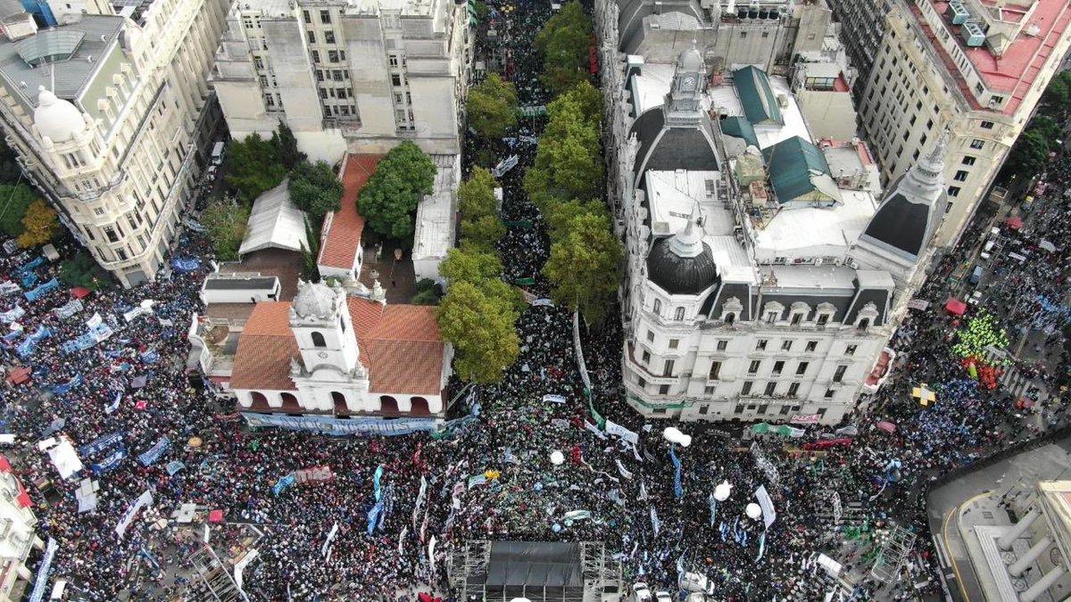 La manifestación en contra del Gobierno fue contundente.