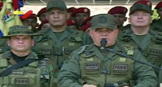 El Jefe de las FANB anuncia la derrota de los golpistas estadounidense.
