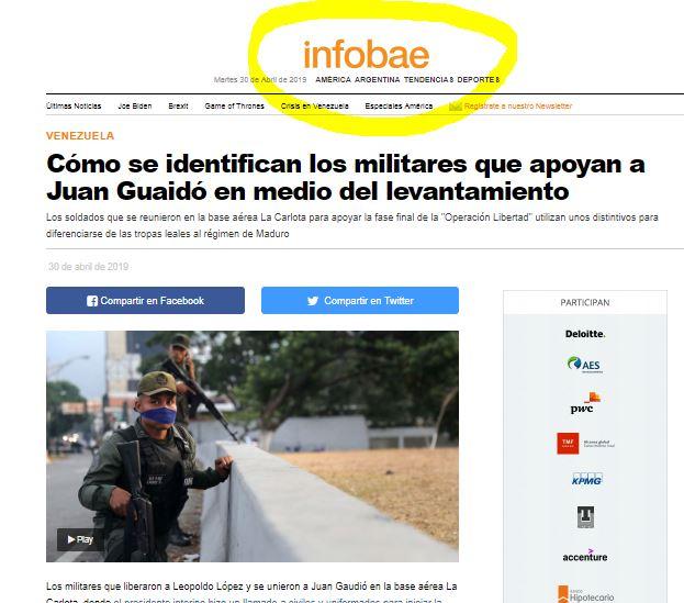 El sitio web de ultraderecha INFOBAE es la voz de la Embajada de Estados Unidos en Buenos Aires.
