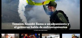 REGIÓN – Venezuela | Clarín, La Nación e Infobae apoyan a los terroristas venezolanos.