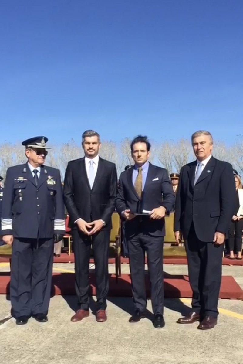 Oscar Aguad, Ministro de Defensa del macrismo con el Jefe de Gabinete Marcos Peña.