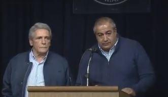 Carlos Acuña y Héctor Daer, Secretarios Generales de la CGT macrista.