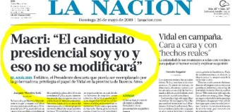 POLÍTICA – Régimen | Ante la convención radical, Macri insiste en que el candidato es él.