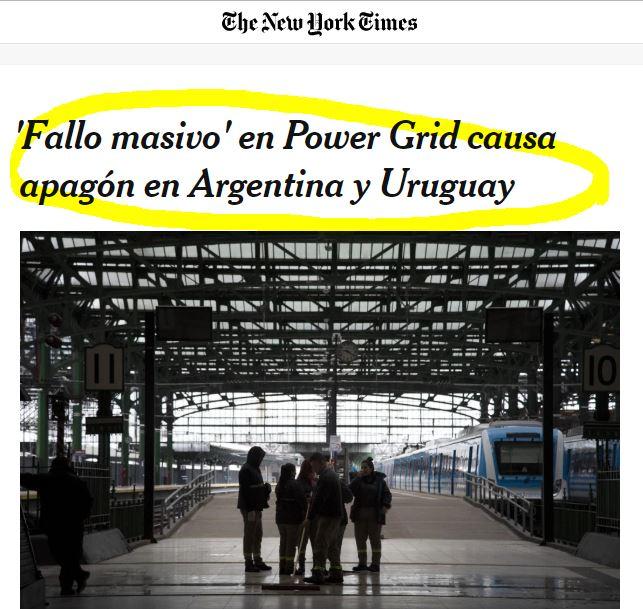 Hasta los medios internacionales cubrieron el peor corte de energía en la historia de Sudamérica.