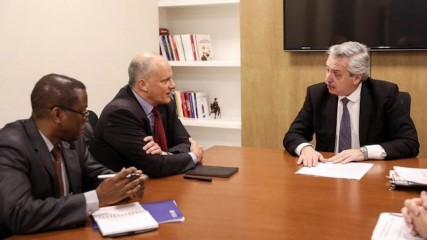 Alberto Fernández en reunión con el FMI. FOTO: Partido Justicialista.