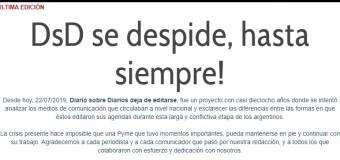 MEDIOS – Régimen | Cierra el sitio colega Diarios sobre Diarios.