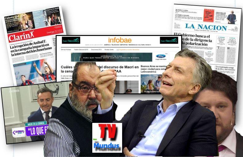El régimen de Macri tiene todos los medios de comunicación a su favor.