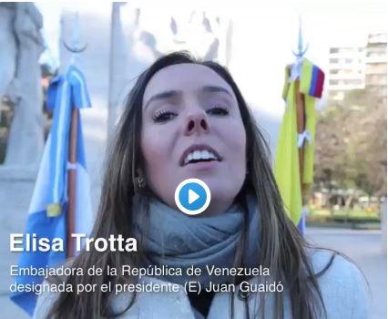 El régimen de Macri reconoce a la terrorista Elisa Trotta como si fuera la Embajadora de  Venezuela.